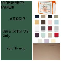 What color do you want to win? PeachSkinSheets #Giveaway