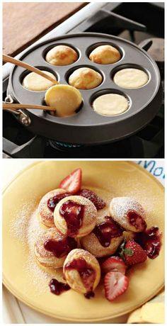 Introduce your kids to the unbelievably delicious Danish pancakes known as Ebelskivers with this Nordic Ware Ebelskiver Filled-Pancake Pan.