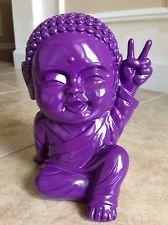 New Fun Purple Modern Lucky Happy Baby THAI BUDDHA - Good Luck Home Decor Purple Baby, Purple Lilac, Baby Buddha, Happy Baby, Asian Style, My Room, Buddhism, Namaste, Lion Sculpture