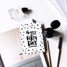 "New postcard ""Happy Birthday"" ☺️#design#art#calligraphy#lettering#hand#typer  #Regram via @flkmiracle_art"