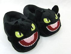 Cheap cotton slippers, Buy Quality warm slippers directly from China toothless slippers Suppliers: Dragon Master Home Furnishing Plush Warm Slippers To Dreamworks Nightfury Black Dragon Toothless Cotton Slippers Winter Slippers, Cute Slippers, Kids Slippers, Dragon Birthday, Dragon Party, Dreamworks, Toothless Dragon, Dragon Trainer, Black Dragon