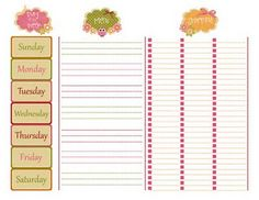 another meal planning template