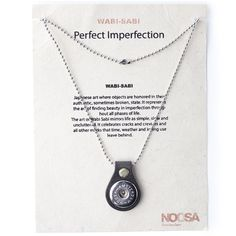 NOOSA Amsterdam's Wabi Sabi Original necklace charm is a silver coloured metal necklace with a small leather detail. An Original Chunk® of your choice will fit this necklace.