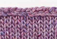 Yarn-Over Bind Off  This bind off creates a decorative, open edge that is quite stretchy. The edge flares slightly, making it a good option for lace, ruffles, or sock cuffs. Once you learn this bind off, you can make the edge fit any scalloped or wavy pattern by varying the number and frequency of the yarn overs. Place more where the edge curves and fewer where the edge is straighter. Make a swatch to determine the best number and placement for a given pattern.  Yarn-Over Bind Off  1. K1…
