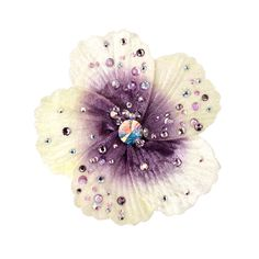 TARINA TARANTINO Crystal Hibiscus Anywhere Clip by None, via Polyvore