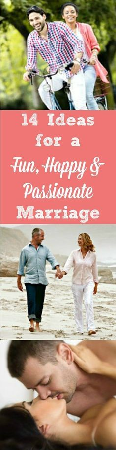 14 Tips, ideas and resources for creating a fun, happy and passionate marriage. Encouragement | Advice | Married life