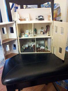not quite finished yet Needle Felted Animals, Felt Animals, Ooak Dolls, Dollhouses, Liquor Cabinet, Tiny House, Arts And Crafts, Miniatures, Craft Ideas