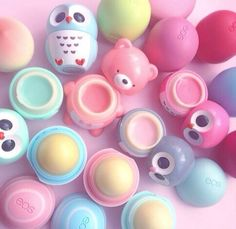 Got a pink owl and a pink and berry eos <3