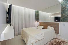 20 apês pequenos que provam que dá pra viver bem com pouco espaço - Casa #quarto #casal #cortina