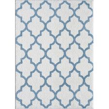 Cadale White/Blue Area Rug