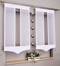 Gotowe panele ekrany double iv od cm kolory - Another! Curtain Patterns, Curtain Designs, Blinds For Windows, Curtains With Blinds, Indian Home Decor, Diy Home Decor, Rideaux Design, Bookcase Wall, Tulle Curtains