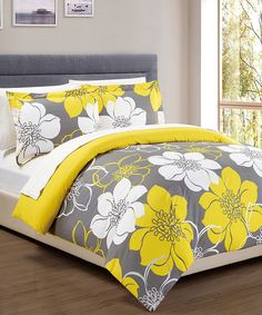 Loving this Yellow Forsythia Duvet Set on #zulily! #zulilyfinds