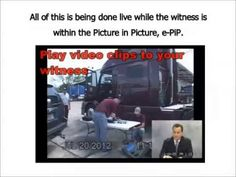 e-PiP Electronic picture in picture for legal video depositions.