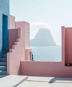 Spain pastel view sea
