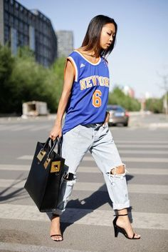 This article on Cosmo shows women how they can merge sports influenced items into their wardrobe and rock a sporty chic style. Sporty chic styles have become very popular today and can be see worn by many influential celebrities such as Rihanna and Miley Cyrus. Kayla Snellgrove