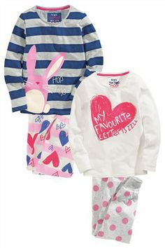 Buy Heart Rabbit Pyjamas Two Pack (3-16yrs) from the Next UK online shop