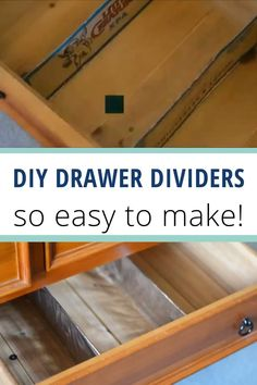 Make your own DIY custom drawer dividers in under 15 minutes. Best of all, no fancy tools or materials needed. These diy cardboard drawer dividers are quick and easy solutions that cost next to nothing and will help you organise your clothes in a flash #clothesorganisation #drawerdivider #storage #organisation Cardboard Drawers, Diy Drawers, Diy Cardboard, Home Organisation Tips, Home Storage Solutions, Diy Projects To Do At Home, Easy Diy Projects, Kitchen Drawer Dividers, Minimalist Living Tips