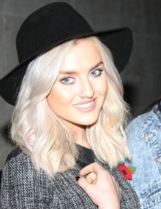 Little Mix's Perrie Edwards swaps peroxide hair for a honey blonde ...