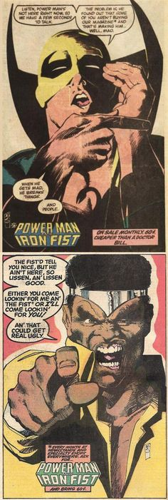 Power Man and Iron Fist, On Sale Monthly, Art: Bill Sienkiewicz