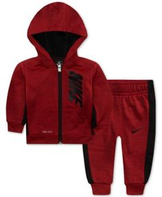 1572dcf48952 Baby Boys 2-Pc. Therma-FIT Striped Jacket   Pants Set