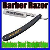 New Wet Shaving Knife Stainless Steel Straight Edge Sharp 3 Inches Fixed Blade Cutthroat Open Razor Black Scale
