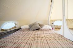 Life Under Canvas double bed inside the inner.