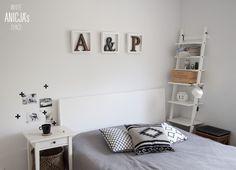 typografia w sypialni
