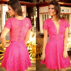 vestidos de renda rosa - Pesquisa Google