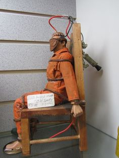 Electric Chair GI Joe, artist made! Just $85! One of a kind!