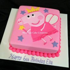 Peppa Pig Birthday Cake by Mystique Cake Creations, Perth, Western Australia. You'll find this Cake Appreciation Society Member in our Directory at www.cakeappreciationsociety.com