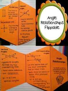 Angle Relationships Flippable- Parallel and Perpendicular Lines as well as Adjacent, Vertical and Corresponding Angles- Lesson Includes Flippable and Exit Ticket