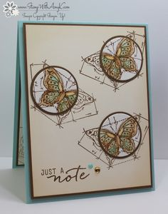 JUNE 24, 2016 BY STAMPWITHAMYK Stampin' Up! In This World for the Totally Techniques Blog Hop   This is my second post for the day, if you're looking for my Swirly Bird card for Fab Friday, please click here to to right to it.  I used the Stampin' Up! In This World stamp set to create my card for the monthly Totally Techniques blog hop.  This month we're focusing on the spotlight technique.  Here is my card: