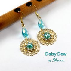 These earrings are for the occasions when you want to shine. Available in 3 lively colours, you can pick and choose with any dress. Crochet Earrings, Handmade Jewelry, Product Launch, Colours, Drop Earrings, Dress, Stuff To Buy, Dresses, Drop Earring