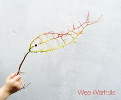 Nature stick art at