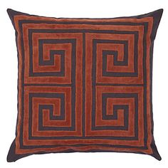 """Z Gallerie - Athens Pillow 24"""" - Flame"""