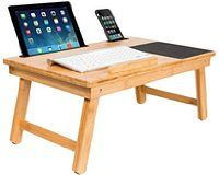Sofia + Sam Multi Tasking Laptop Bed Tray (Natural) | Supports Laptops Up To 18 Inches