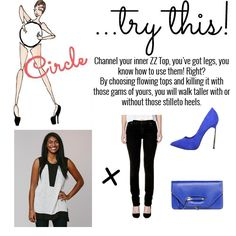 Circle try this! Circle Shape, Triangle Shape, Walking Tall, Inverted Triangle, A Boutique, Body Shapes, Celebrities, Women, Celebs