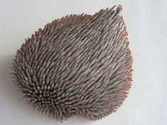 Artist Valerie Buess Shreds & Twists Recycled Books Into Marvelous Marine Forms Organic Sculpture, Sculpture Art, Paper Sculptures, Abstract Sculpture, Paper Book, Paper Art, Cut Paper, Kirigami, Book Crafts