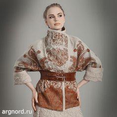 Куртка льняная короткая - Арт. 15ф-502 - Волтри (рис. 1)