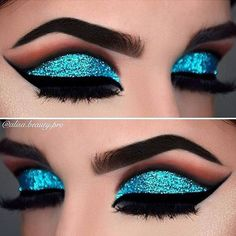 Trendy Ways How To Apply Glitter Eye Makeup #GlitterMaquillaje