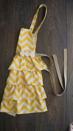 would like in a different color women's chevron patterned full apron by DesignsByRade on Etsy, $27.00