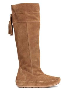 Knee-high suede boots | H&M
