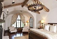 Mediterranean Bedroom Photos Design Ideas (Soccarone upper class, minus the  modern lighting, of course.)