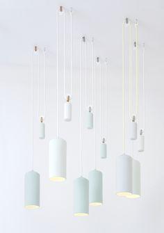 Preciosas lámparas de cerámica y vidrio