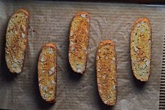 Like this recipe (without butter). Will try with the classic anise seeds -  Starbucks-styleVanilla Almond Gluten-Free Biscotti