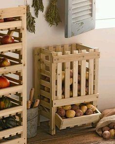 """gardendecor: """"Функционально! Ящики для хранения овощей или других вещей! #хранениевещей#ящикидляхранения"""""""