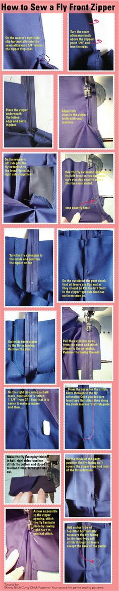 SBCC Patterns: How to sew a fly front zipper