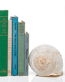 shell bookends.