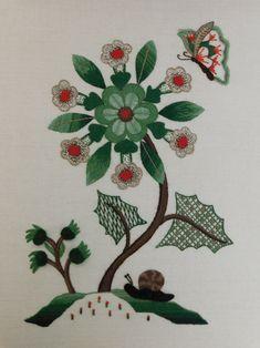 Jacobean Crewelwork by Certificate student Salim Darya, Royal School of Needlework