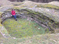 rímske kúpele v Dudinciach - najrozsiahlejšia travertínová terasa dudinských travertínov